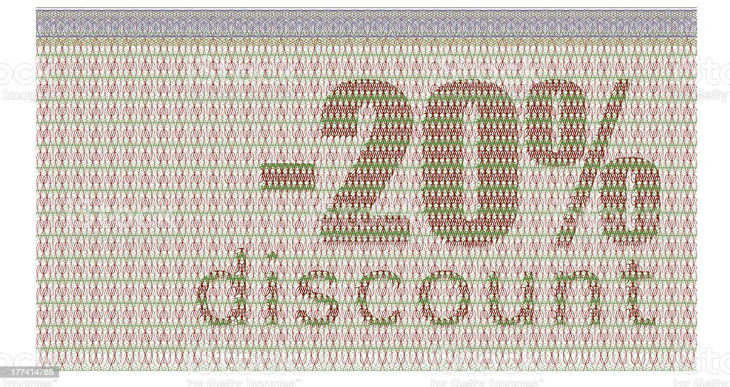 discount coupon -20% royalty-free stock photo