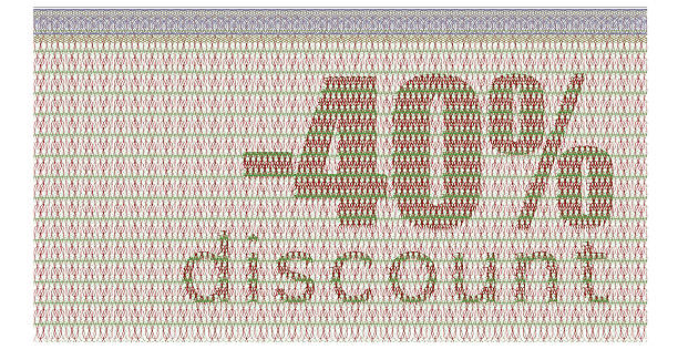 discount coupon -40% - guilloche stock photos and pictures