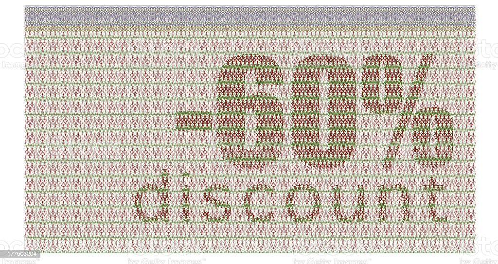 discount coupon -60% royalty-free stock photo