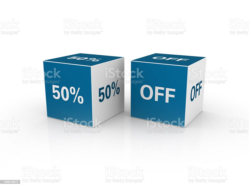 Discount Cubes royalty-free stock photo