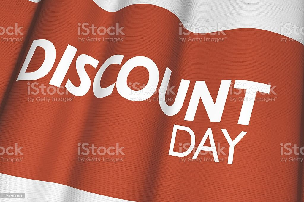 Discount Day Canvas Flag royalty-free stock photo