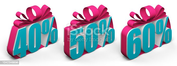 istock discount digits 40 50 60 tied with a bow 1042346696