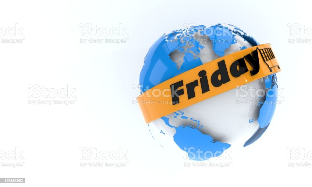 Discount friday concept, 3d r stock photo