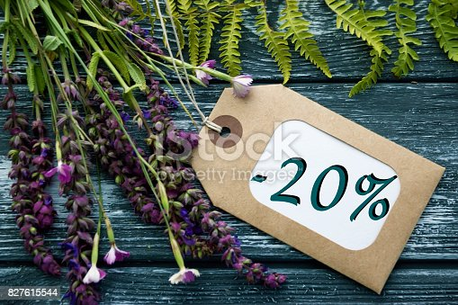 istock Discount label tag with an inscription