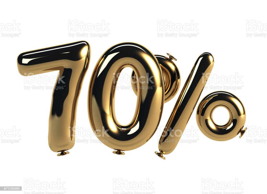 70% discount made of Glossy Helium Balloons stock photo