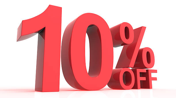 Discount Off 10 Percent - foto de acervo