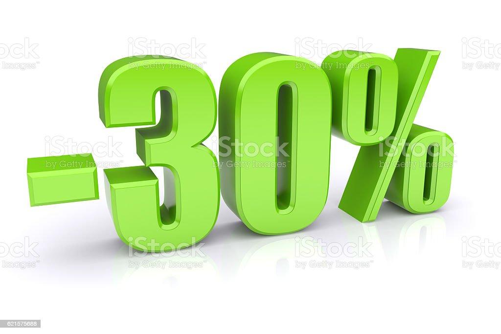 30% discount on a white photo libre de droits