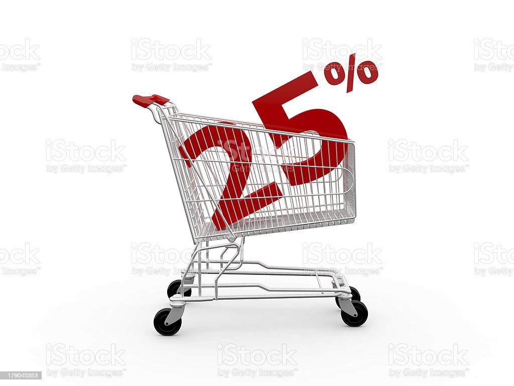 Discount Percentage royalty-free stock photo