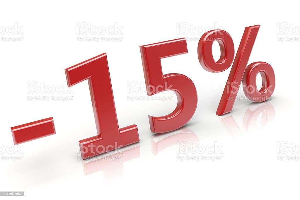15% discount stock photo