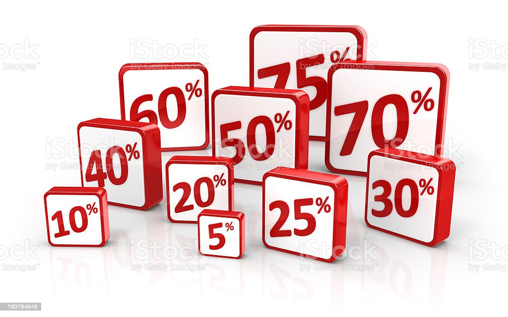 Discount Sale Promotion Symbols stock photo
