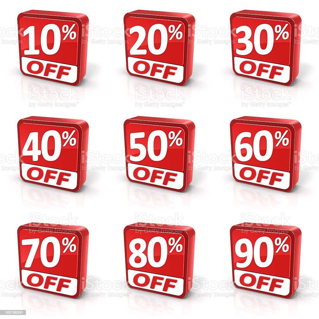 Discount Sale Symbols Set royalty-free stock photo