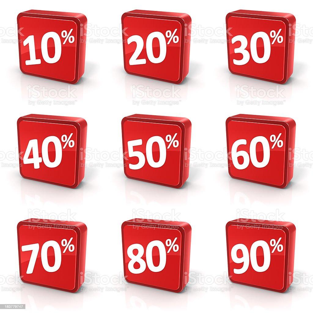 Discount Sale Symbols Set royalty-free stock photo