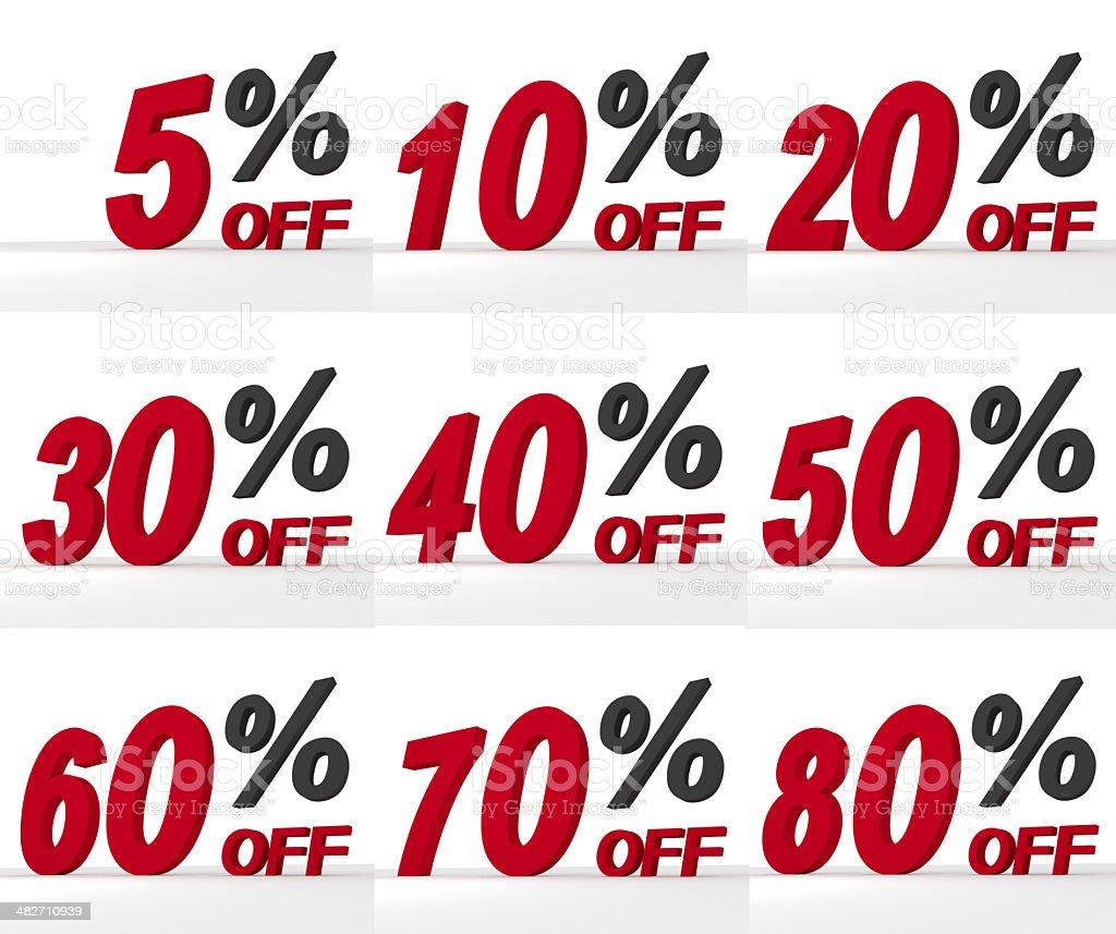 Discount Sale Symbols Set stock photo