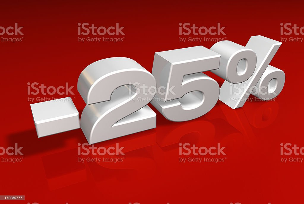 Discount Series -25% royalty-free stock photo