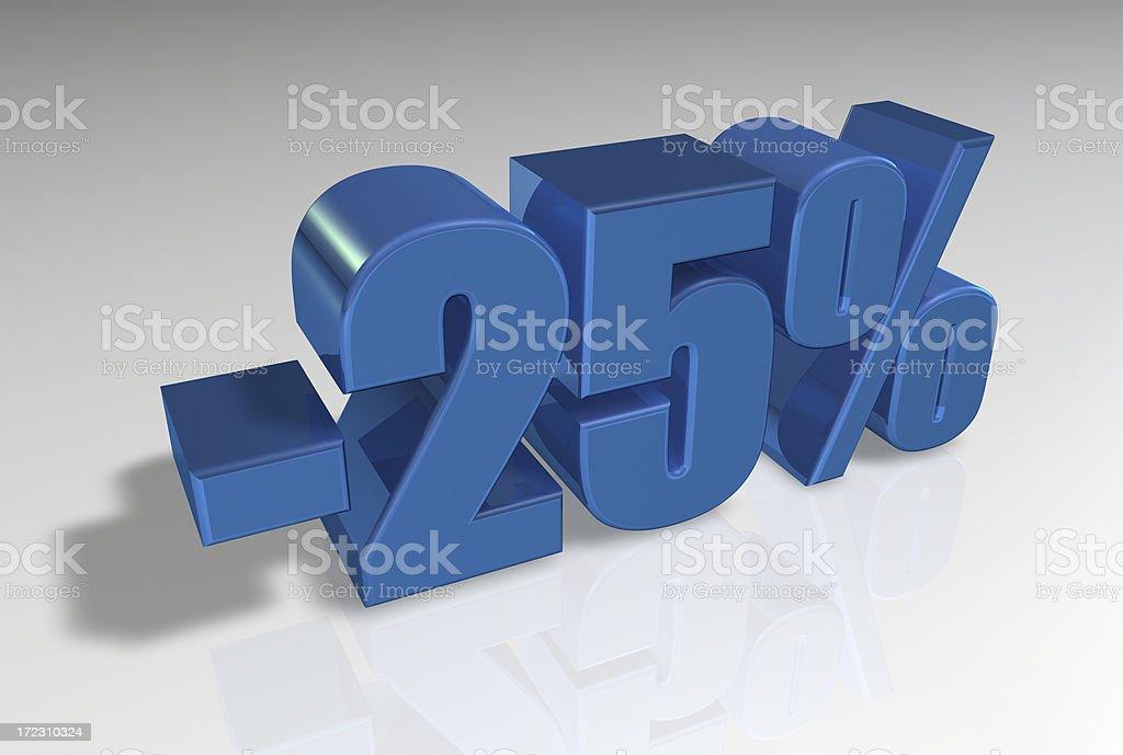 Discount Series II -25% royalty-free stock photo