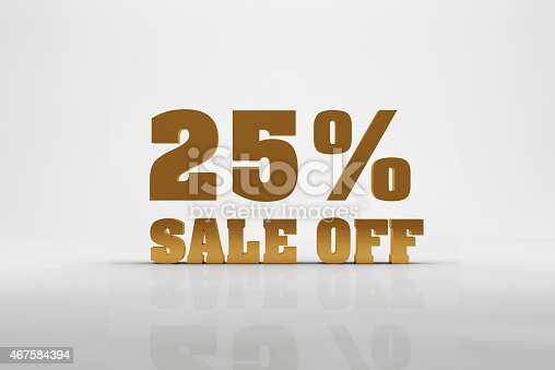 istock 25% discount sign 467584394