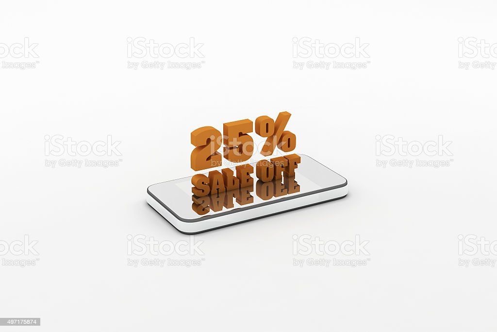 % discount sign stock photo