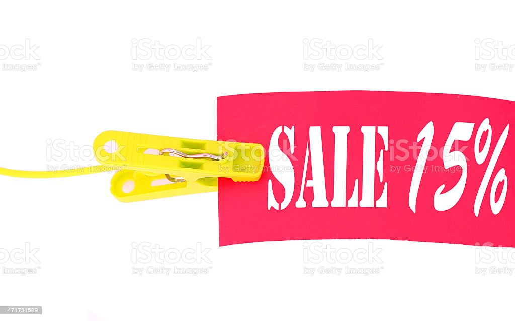 -15% discount sticker royalty-free stock photo