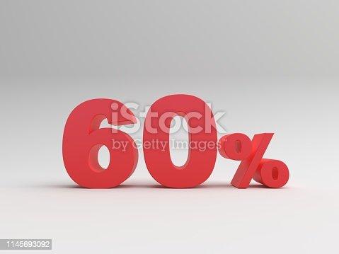 istock Discount symbol on white background 1145693092