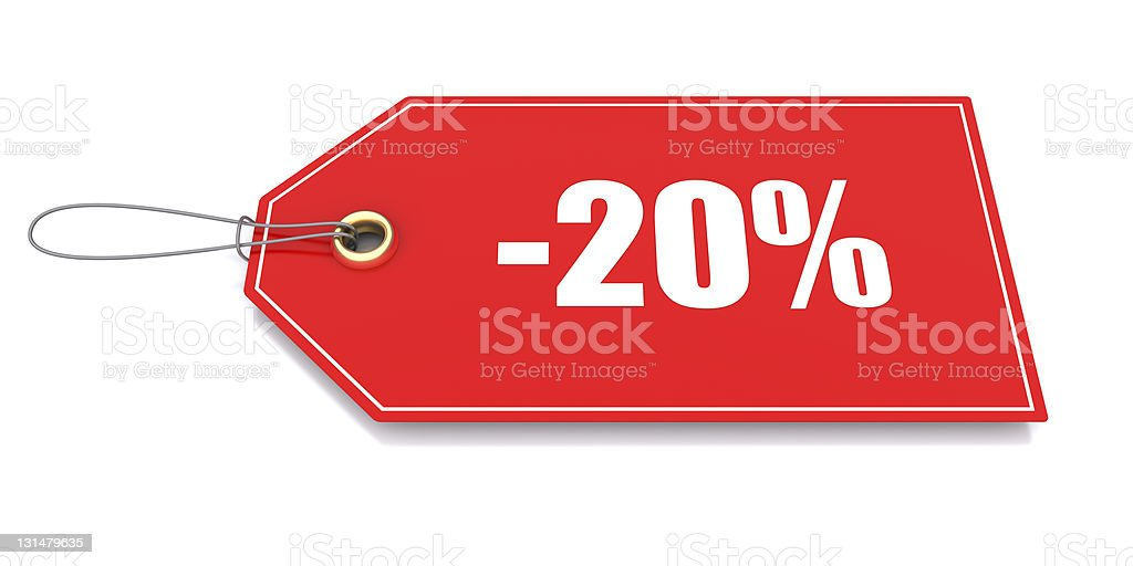 Discount tag royalty-free stock photo