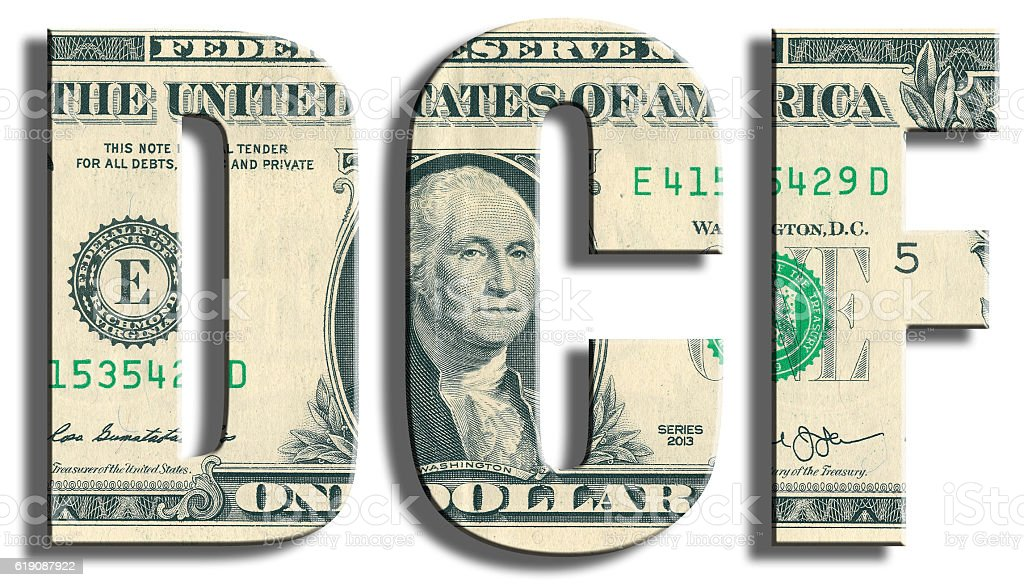 DCF - Discounted Cash Flow. stock photo