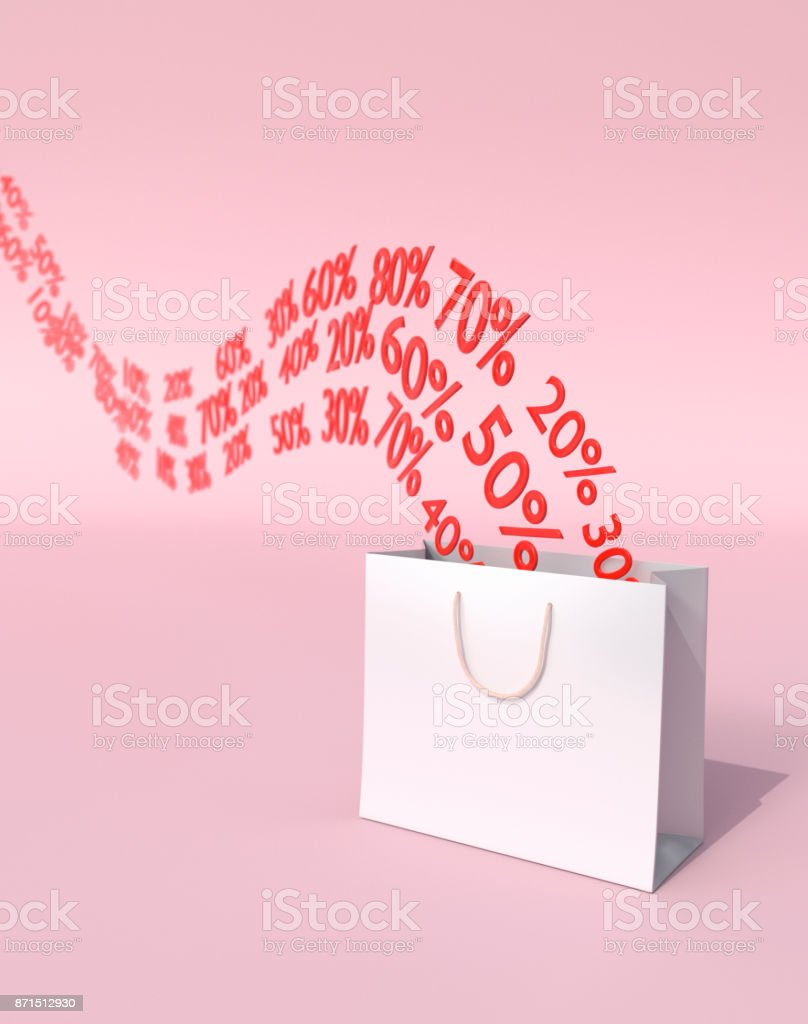 Discounts and Sales Concept stock photo