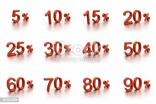 istock 3D discounts collection (isolated on white) 89360989