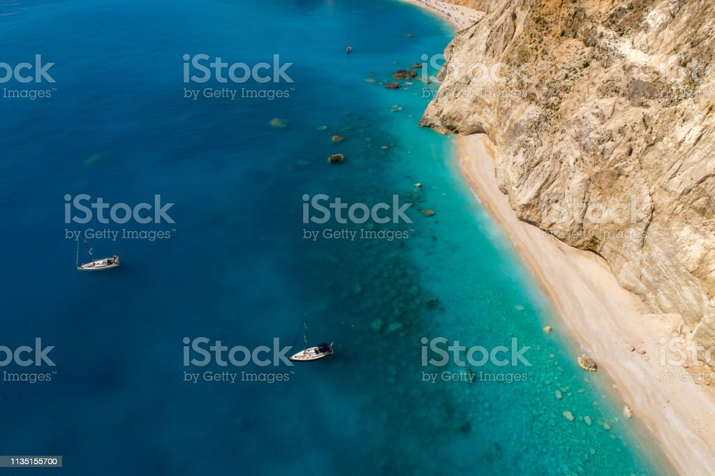 Discover Greece - Lefkada island stock photo