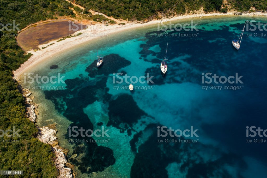 Discover Greece - Meganisi island stock photo