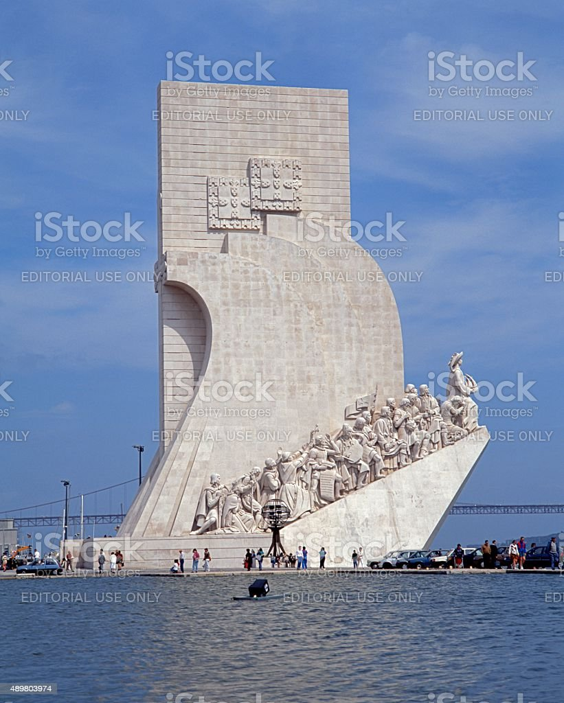 Discoveries monument, Lisbon. stock photo