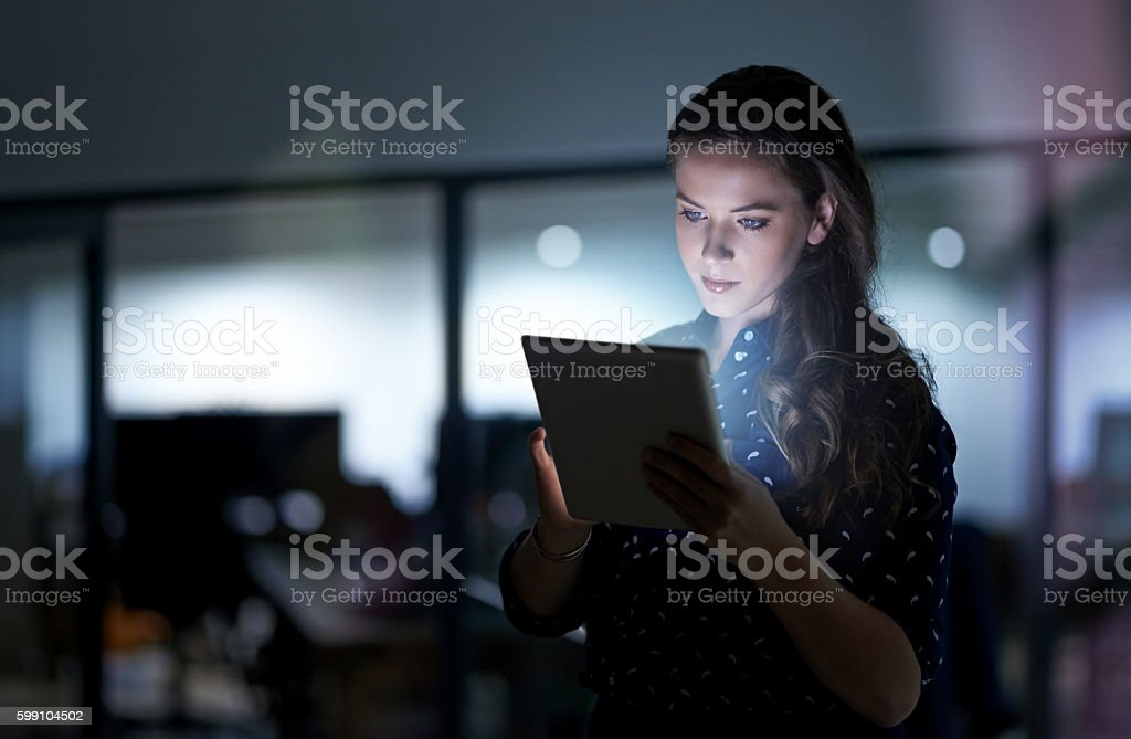 Discovering an endless world of innovation online stock photo