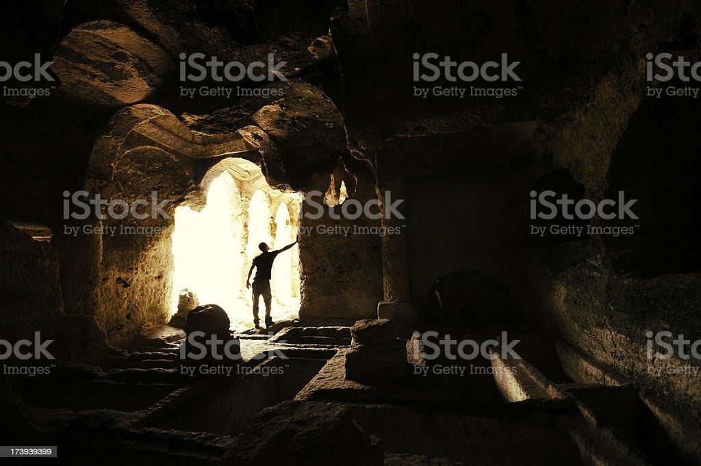 Discovering Ancient Civilizations, Besikli Cave, Antakya, Turkey royalty-free stock photo