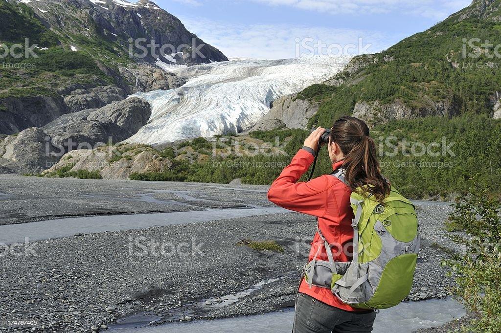 Discovering glacier stock photo