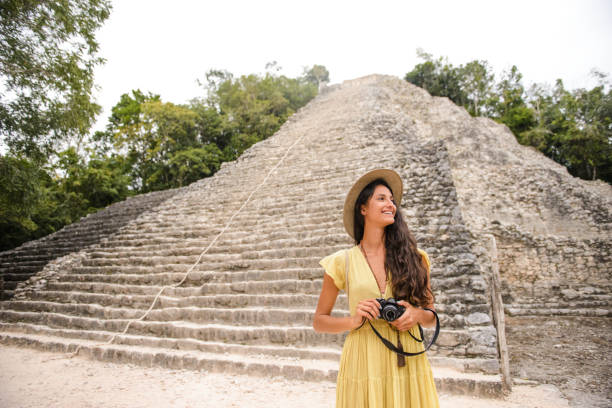 Discovering Mexico. stock photo