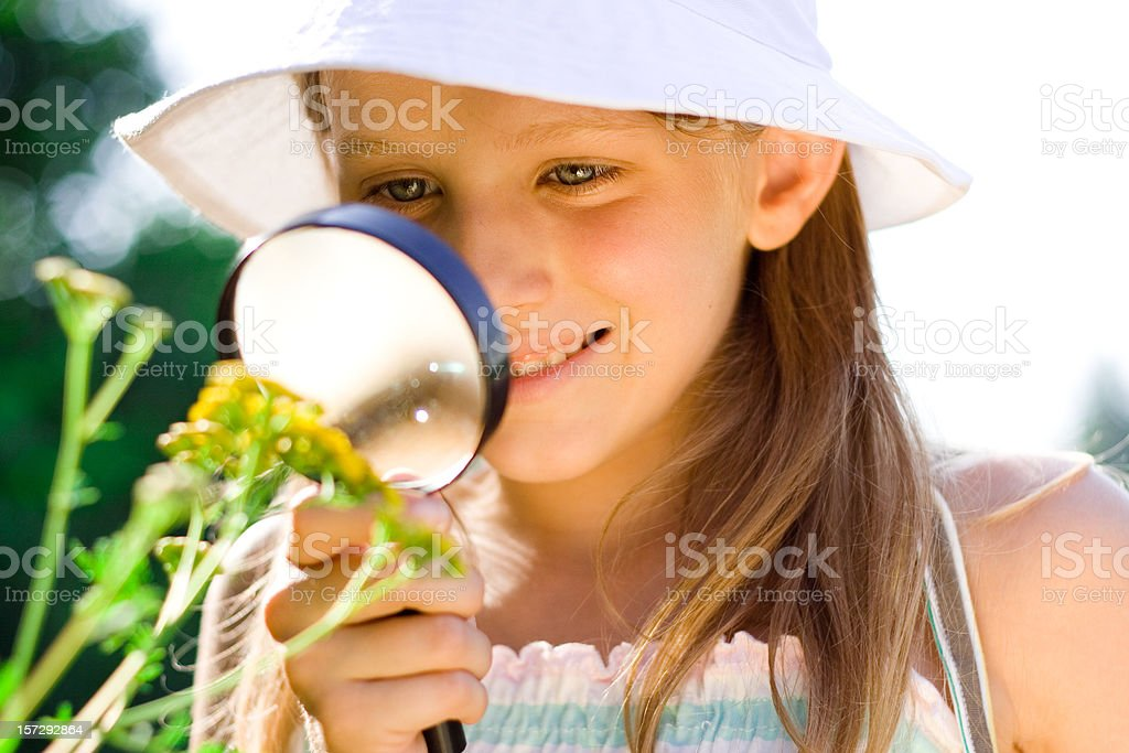 Discovering Nature royalty-free stock photo
