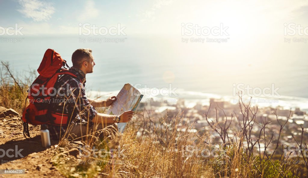 Discovering new places stock photo