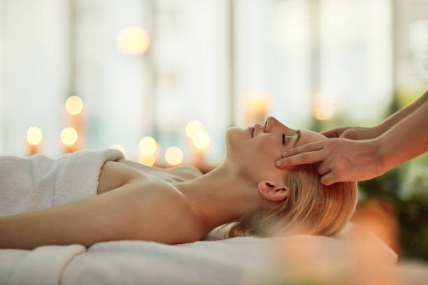Discovering the magic of a simple massage stock photo