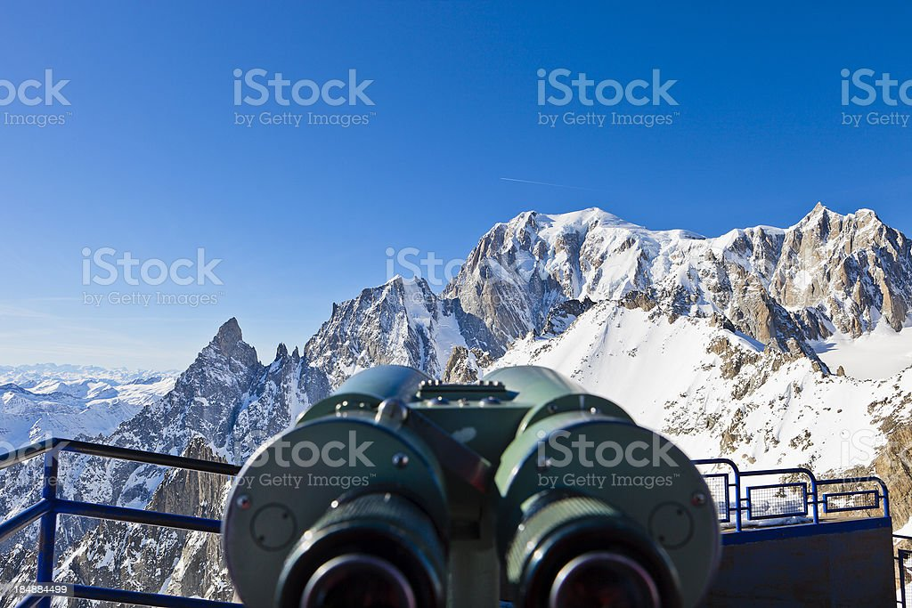 Discovering the Mont Blanc stock photo