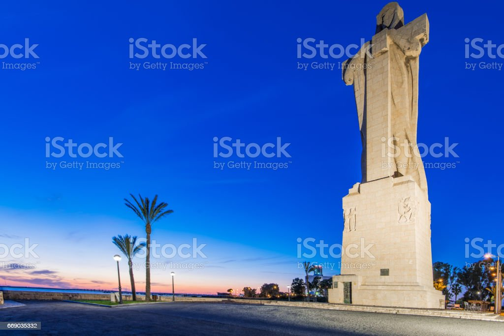 Discovery Christopher Columbus Monument in Palos de Frontera, Spain stock photo
