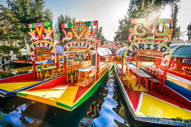 Discovery Mexico-Xochimilco stock photo
