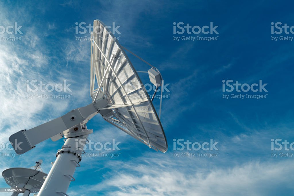Radio telescope looking into the sky