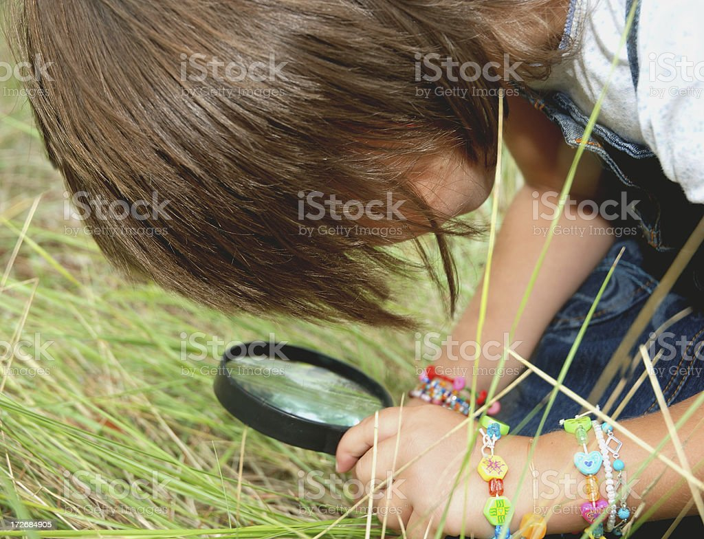 Little girl exploring nature.Many more at:BEING