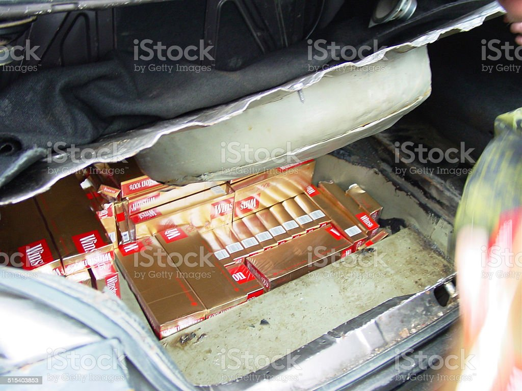 Discovery upon patrol - Contraband stock photo