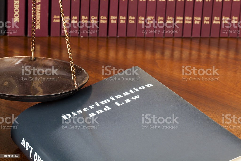Discrimination and Law stock photo