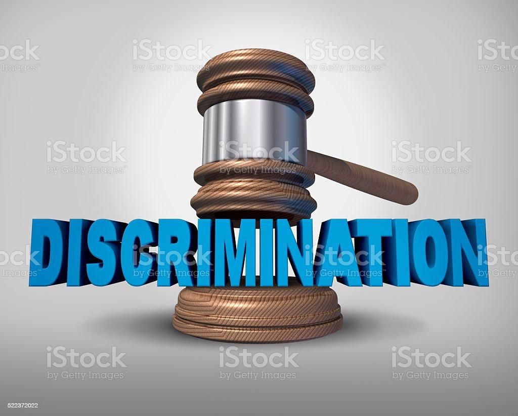 Discrimination Law Concept stock photo