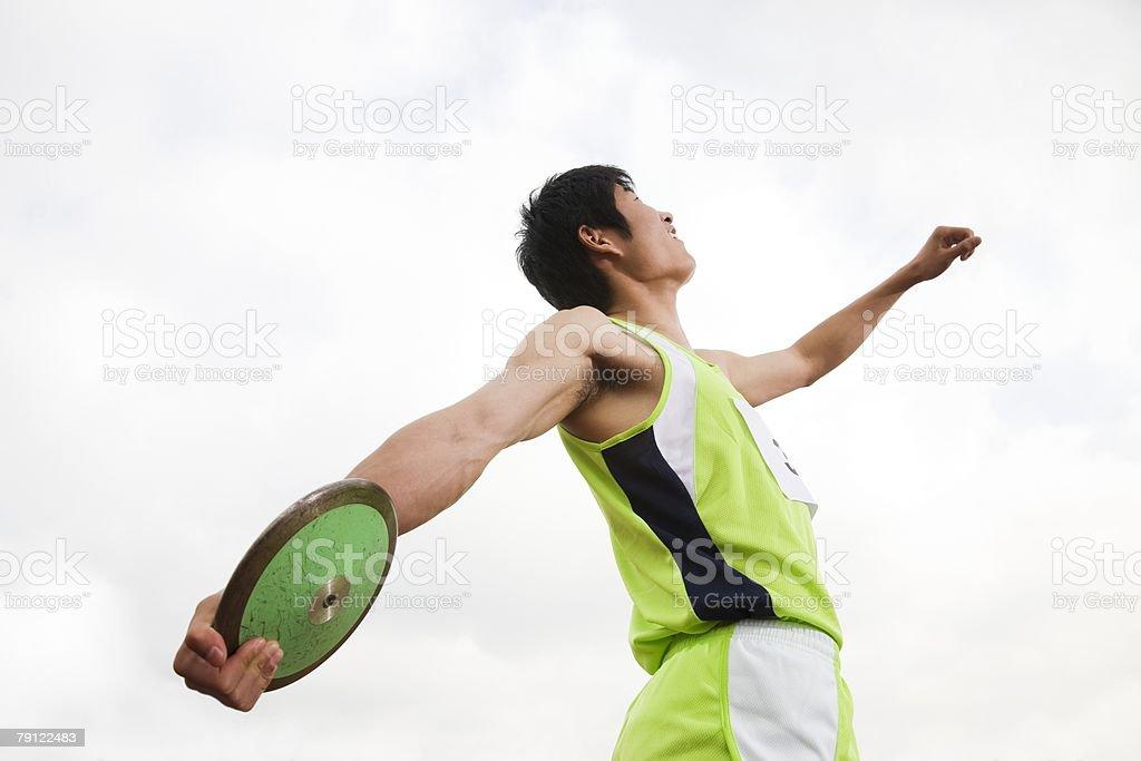 Discus thrower 免版稅 stock photo