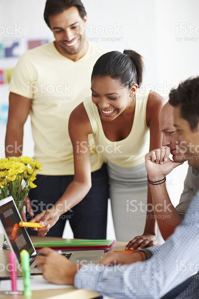 Discussing elements of design royalty-free stock photo