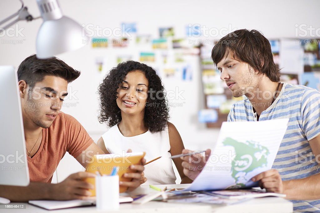 Discussing ideas royalty-free stock photo