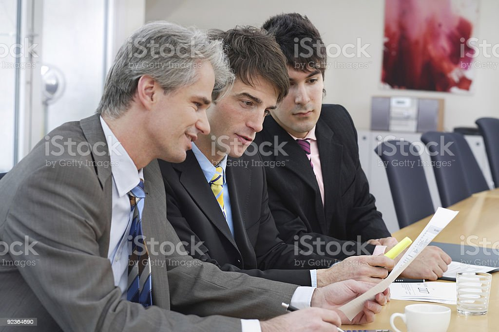discussing royalty-free stock photo