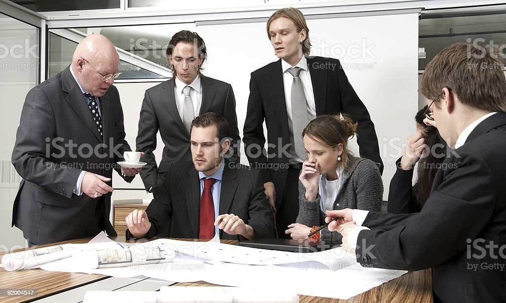 Discussing Plans royalty-free stock photo
